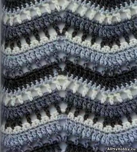 плотные схемы вязания крючком. плотные узоры крючком двухцветные со...